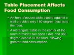 table placement affects food consumption