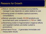 reasons for growth