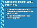 washington requires annual inspections