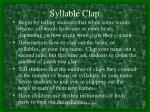syllable clap