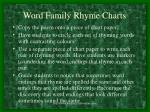 word family rhyme charts
