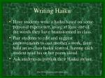 writing haiku