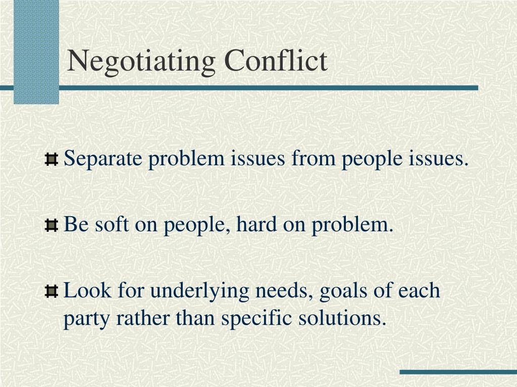 Negotiating Conflict