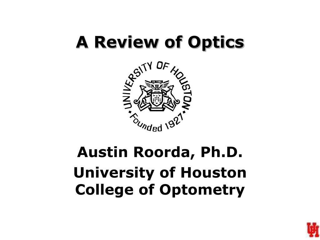 a review of optics l.