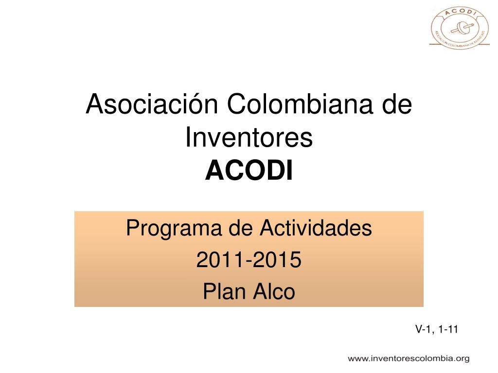 asociaci n colombiana de inventores acodi l.