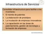 infraestructura de servicios