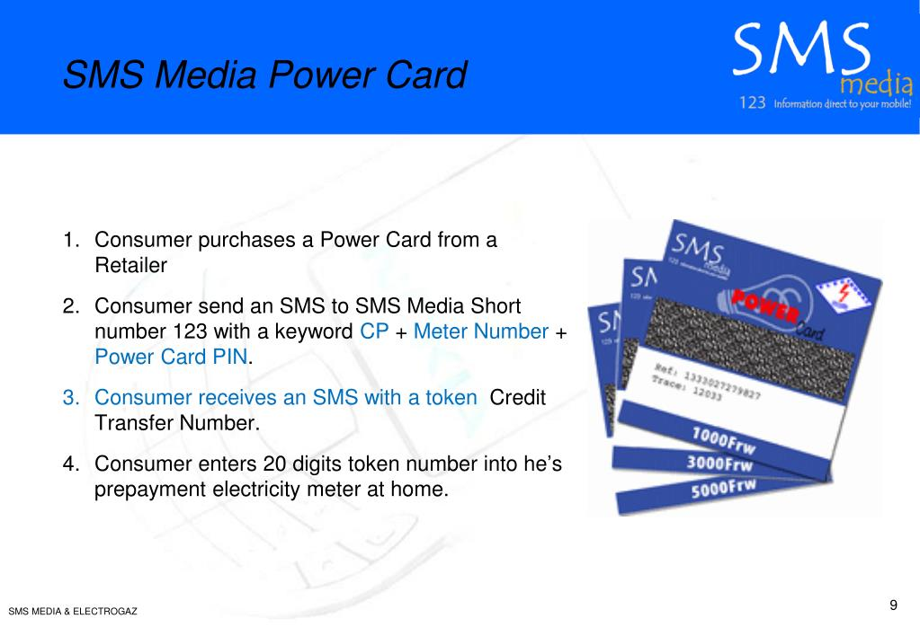 SMS Media Power Card