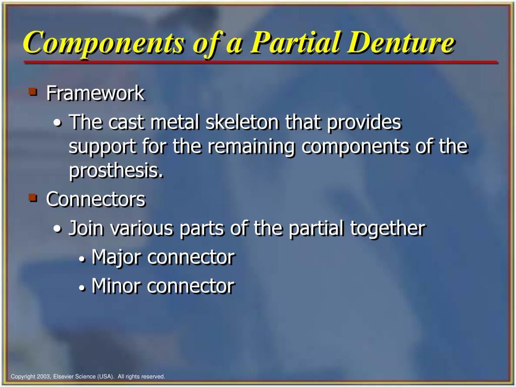 Components of a Partial Denture