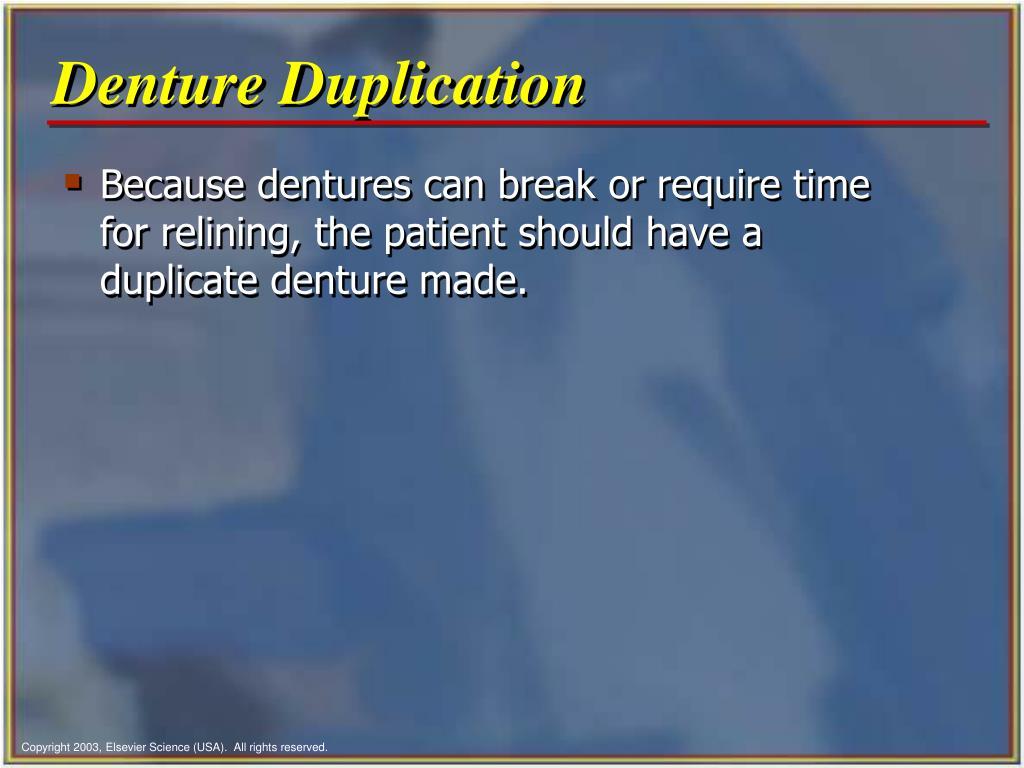 Denture Duplication