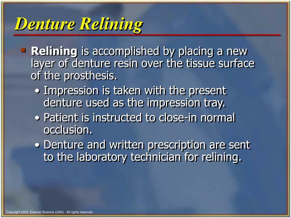 Denture Relining