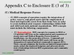 appendix c to enclosure e 3 of 3