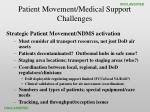 patient movement medical support challenges35