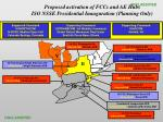 proposed activation of fccs and ae hubs iso nsse presidential inauguration planning only
