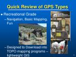 quick review of gps types31