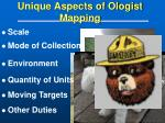 unique aspects of ologist mapping