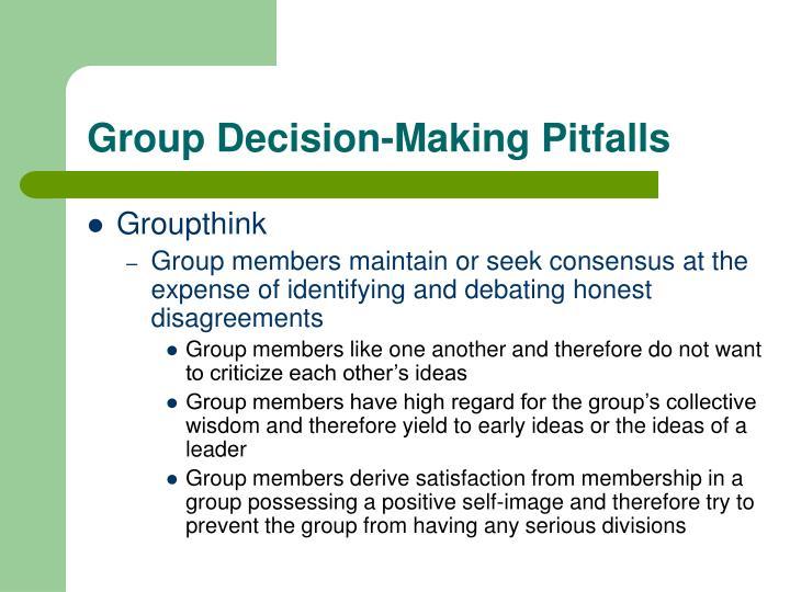 Group Decision-Making Pitfalls