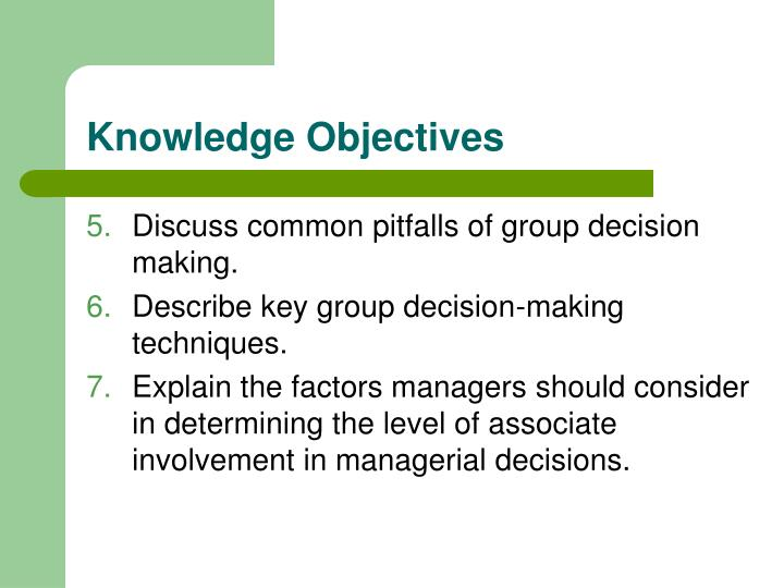 Knowledge objectives1