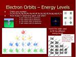 electron orbits energy levels