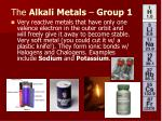 the alkali metals group 1