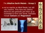 the alkaline earth metals group 2