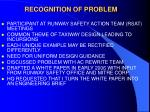 recognition of problem
