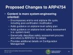 proposed changes to arp475412