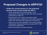 proposed changes to arp475416