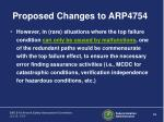 proposed changes to arp475418