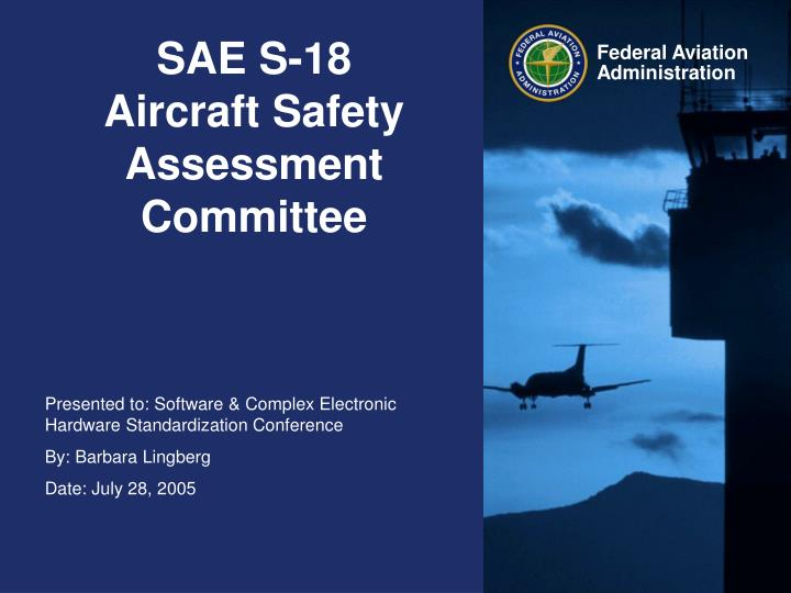 sae s 18 aircraft safety assessment committee n.