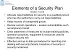 elements of a security plan section 1 6 3 2