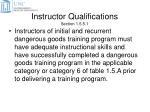 instructor qualifications section 1 5 5 1