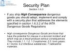 security plan section 1 6 3