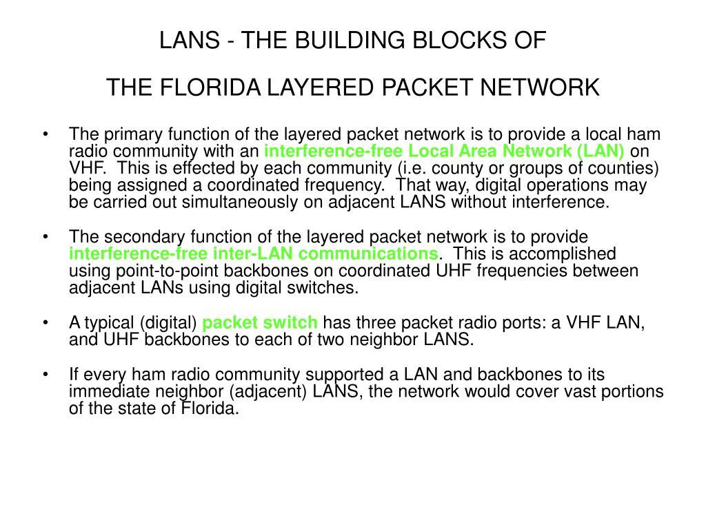LANS - THE BUILDING BLOCKS OF