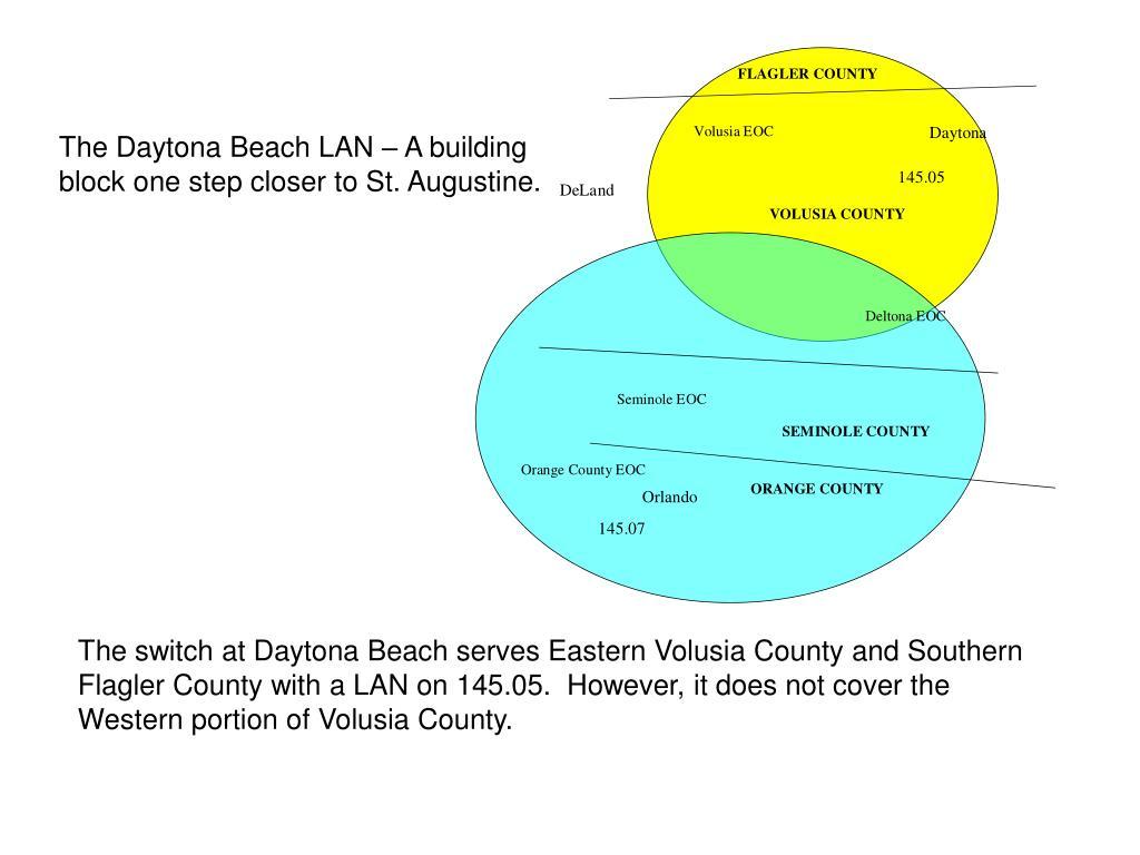 The Daytona Beach LAN – A building block one step closer to St. Augustine.