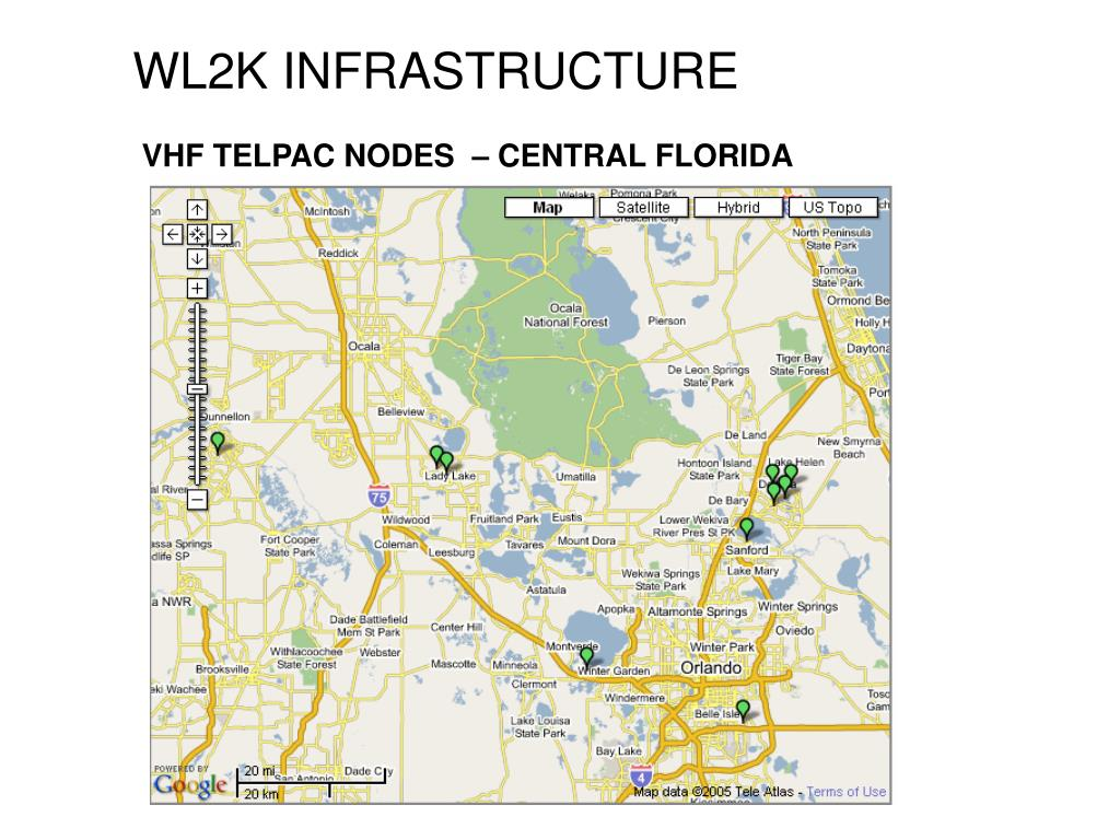 VHF TELPAC NODES  – CENTRAL FLORIDA