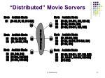distributed movie servers