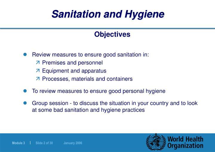 Sanitation PPT