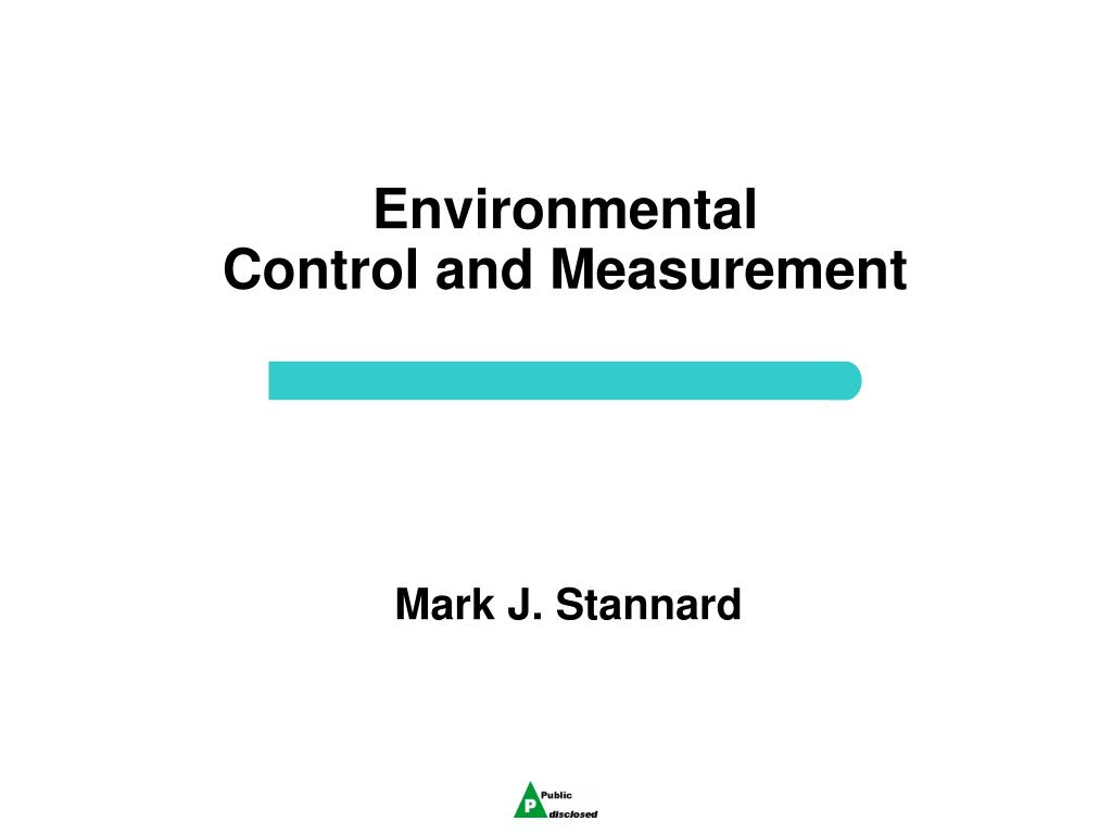 environmental control and measurement l.