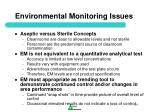 environmental monitoring issues
