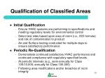 qualification of classified areas