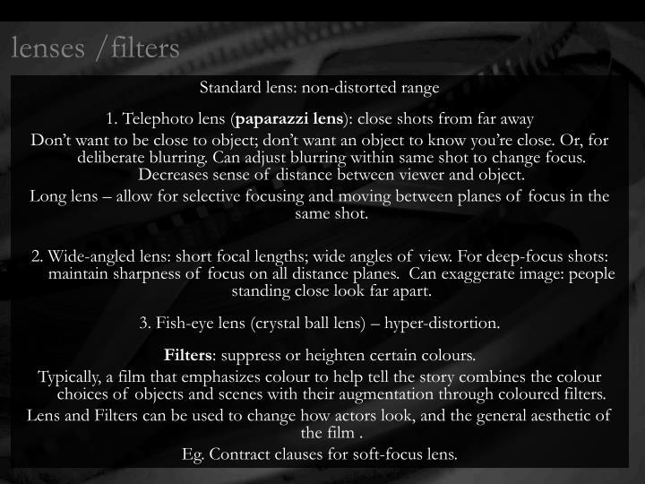 lenses /filters