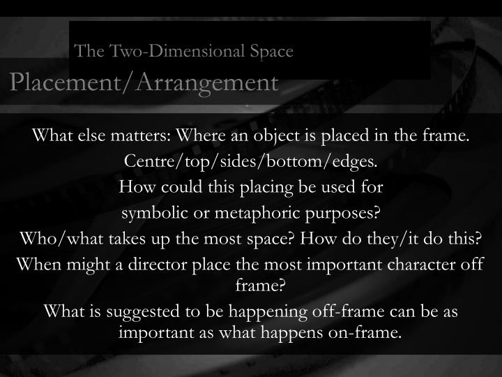 The Two-Dimensional Space