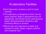 laboratory facilities