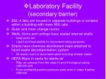 laboratory facility secondary barrier