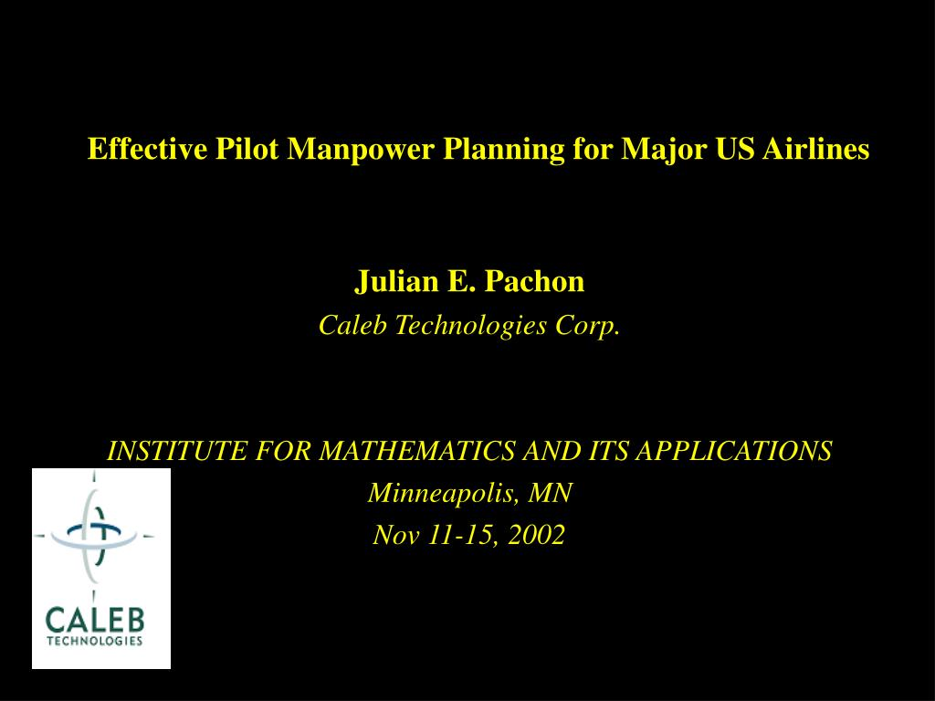 effective pilot manpower planning for major us airlines l.