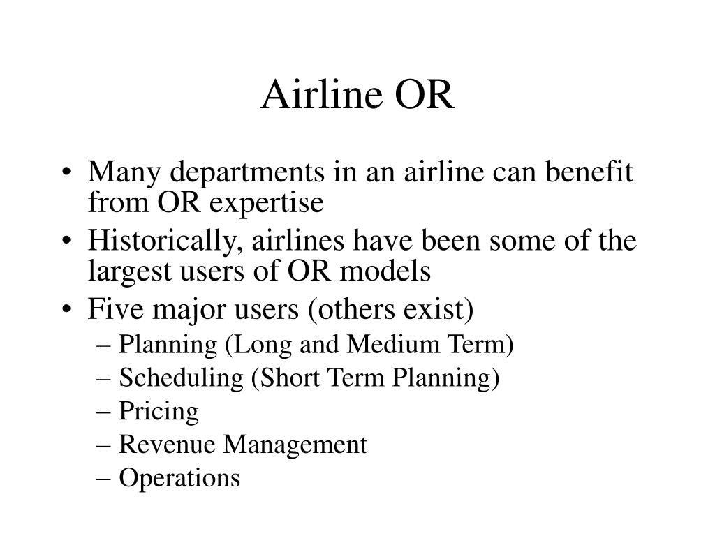 Airline OR