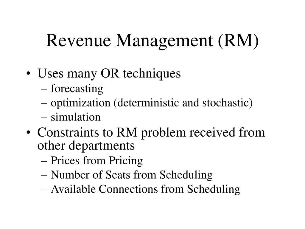 Revenue Management (RM)