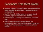 companies that went global
