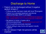 discharge to home