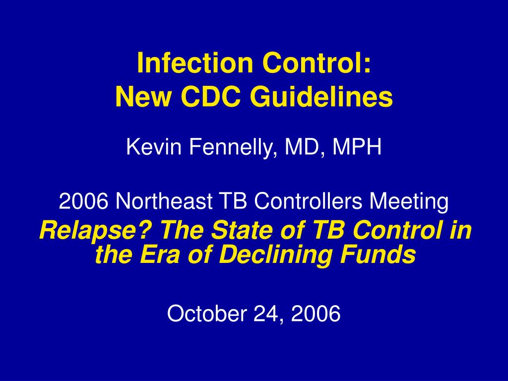 infection control new cdc guidelines l.